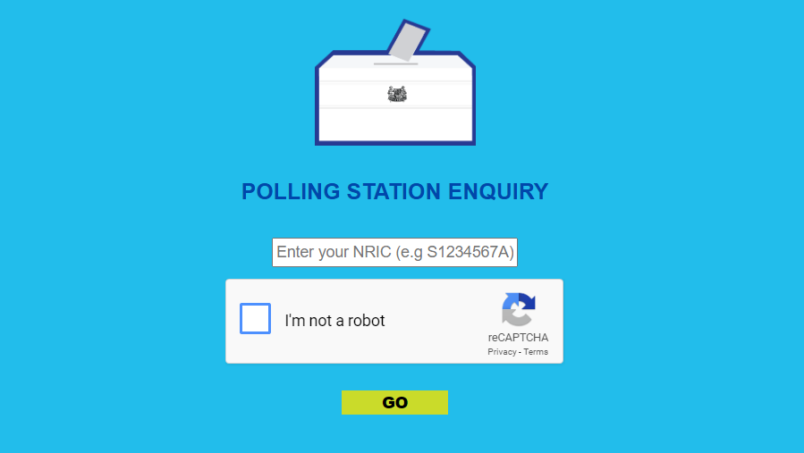Polling station enquiry website