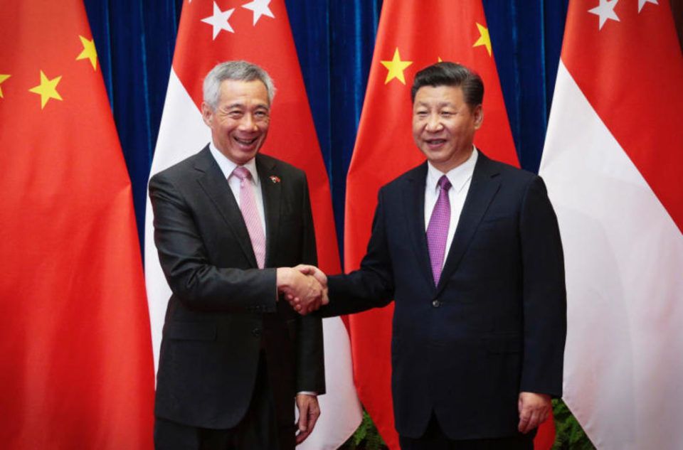 China's President Xi Jinping congratulates PM Lee on election results
