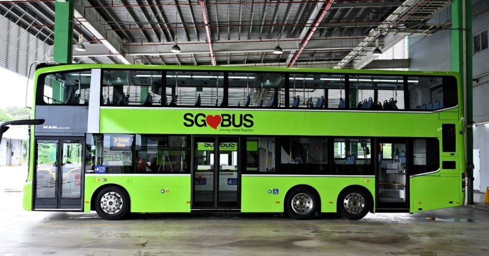 3-door double deck buses